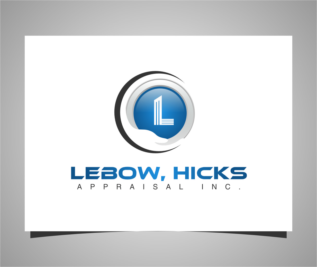 Logo Design by RasYa Muhammad Athaya - Entry No. 121 in the Logo Design Contest Fun Logo Design for Lebow, Hicks Appraisal Inc..
