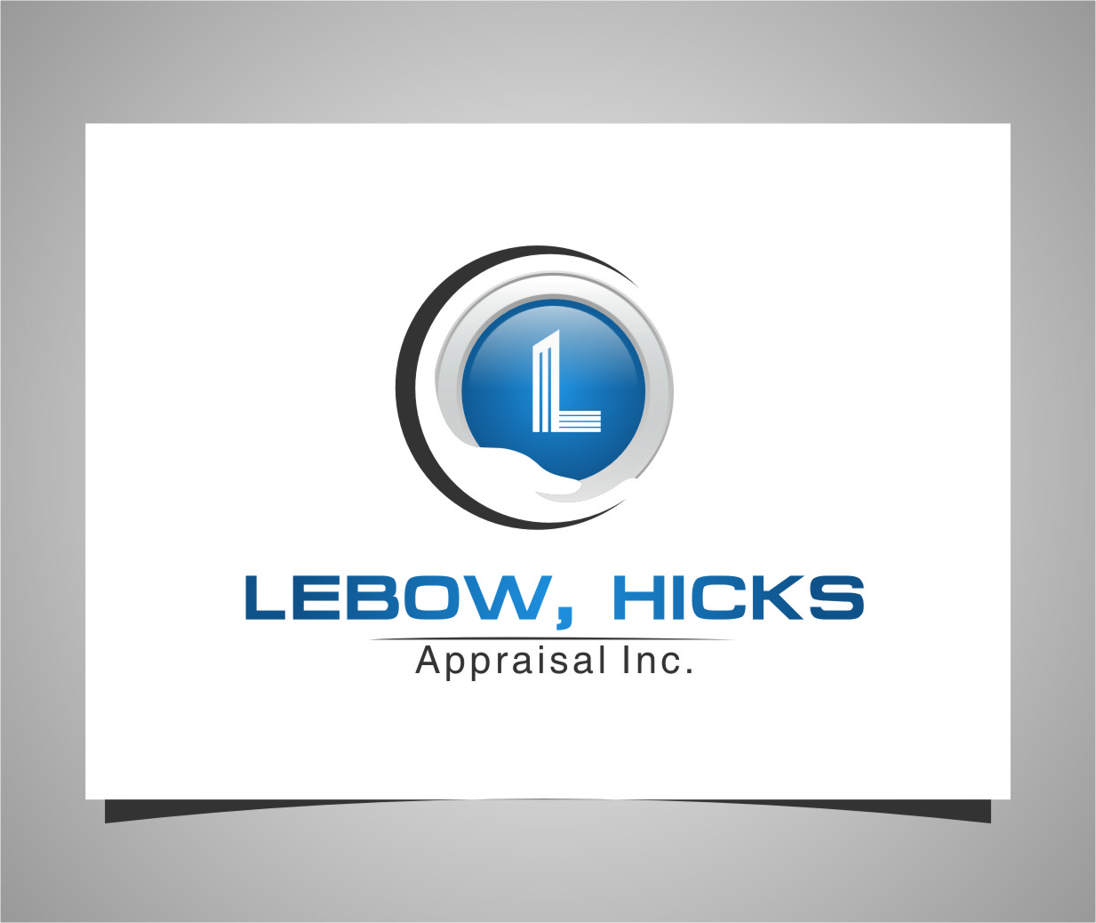 Logo Design by RasYa Muhammad Athaya - Entry No. 122 in the Logo Design Contest Fun Logo Design for Lebow, Hicks Appraisal Inc..