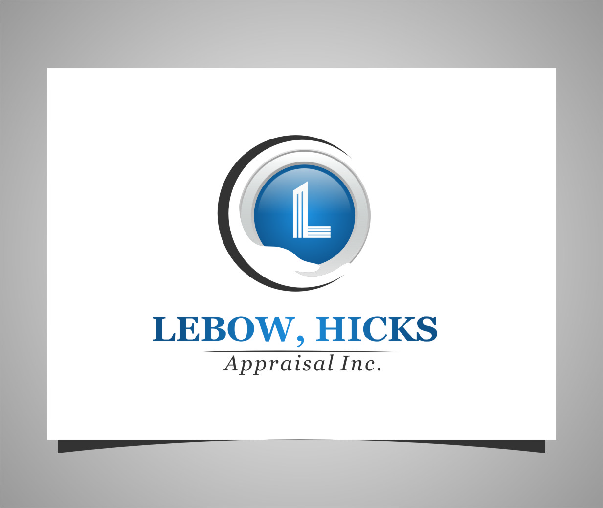 Logo Design by RasYa Muhammad Athaya - Entry No. 123 in the Logo Design Contest Fun Logo Design for Lebow, Hicks Appraisal Inc..