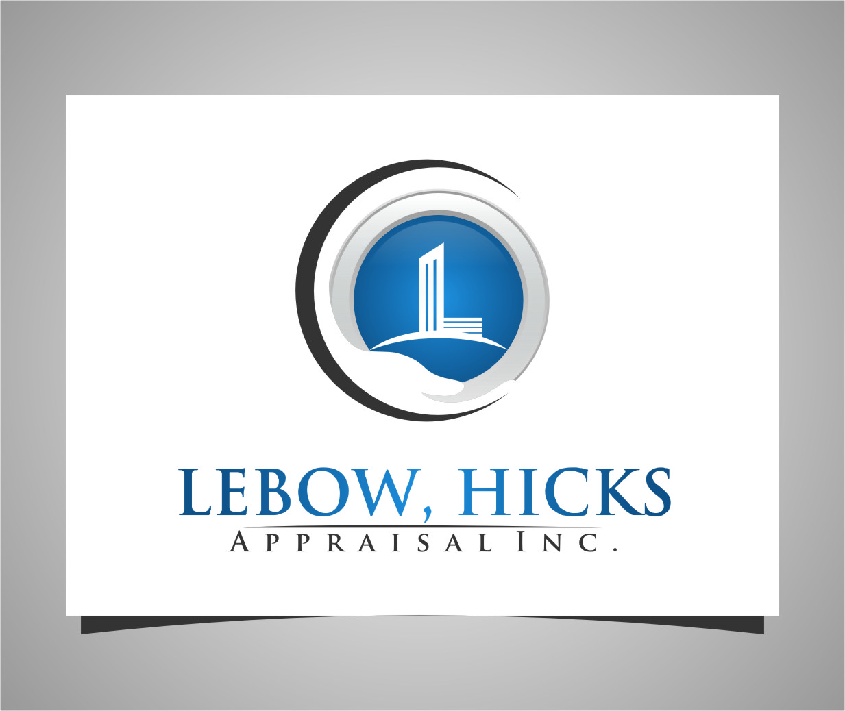 Logo Design by Ngepet_art - Entry No. 125 in the Logo Design Contest Fun Logo Design for Lebow, Hicks Appraisal Inc..