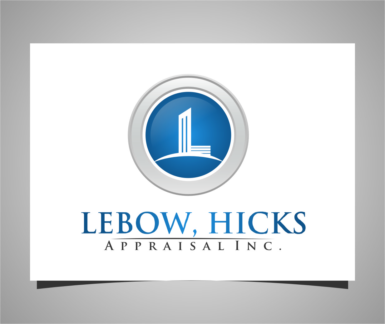 Logo Design by Ngepet_art - Entry No. 126 in the Logo Design Contest Fun Logo Design for Lebow, Hicks Appraisal Inc..