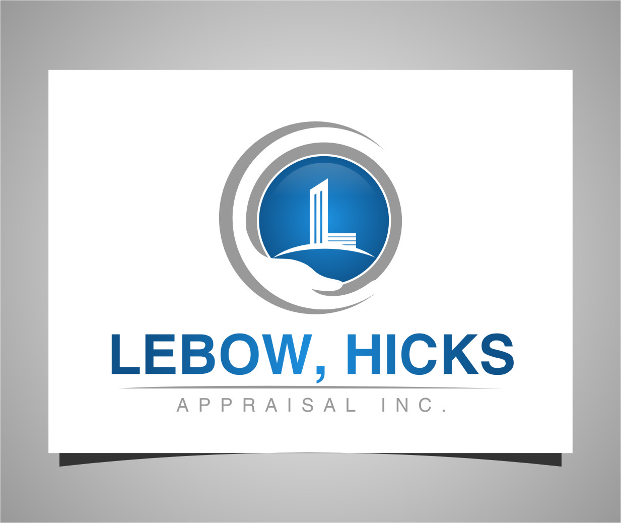 Logo Design by Ngepet_art - Entry No. 127 in the Logo Design Contest Fun Logo Design for Lebow, Hicks Appraisal Inc..
