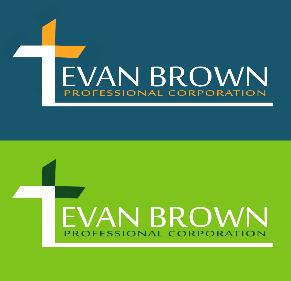 Logo Design by Maninder pal Singh - Entry No. 83 in the Logo Design Contest Inspiring Logo Design for Evan Brown Professional Corporation.