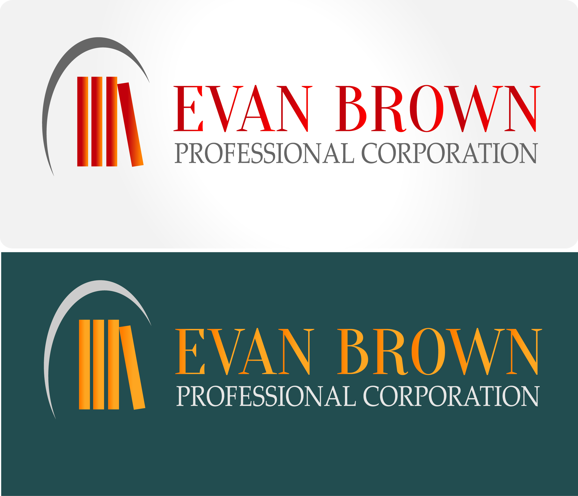 Logo Design by Maninder pal Singh - Entry No. 84 in the Logo Design Contest Inspiring Logo Design for Evan Brown Professional Corporation.