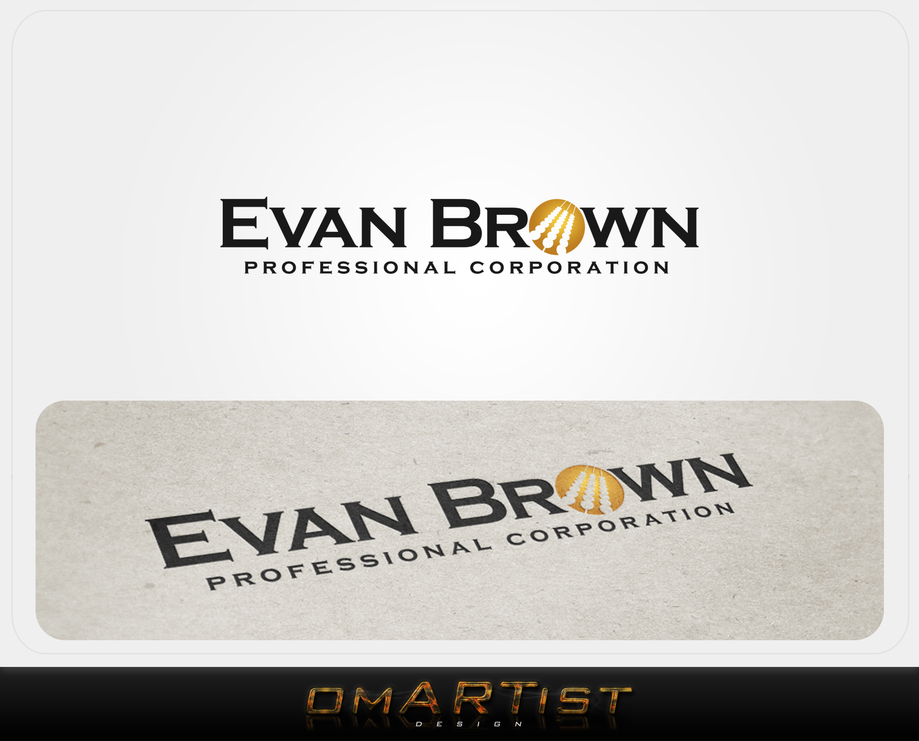 Logo Design by omARTist - Entry No. 85 in the Logo Design Contest Inspiring Logo Design for Evan Brown Professional Corporation.