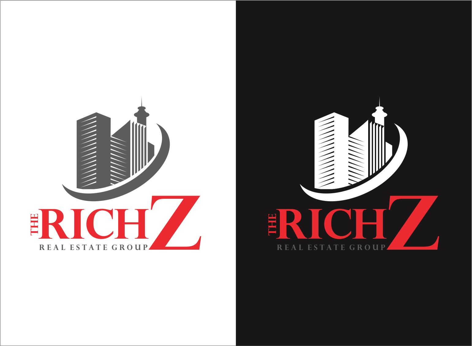 Logo Design by Armada Jamaluddin - Entry No. 373 in the Logo Design Contest The Rich Z. Real Estate Group Logo Design.