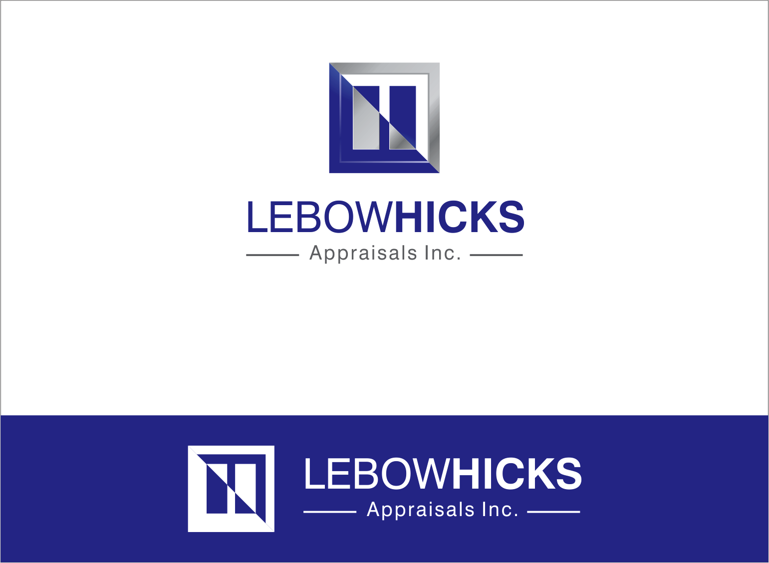 Logo Design by Armada Jamaluddin - Entry No. 130 in the Logo Design Contest Fun Logo Design for Lebow, Hicks Appraisal Inc..