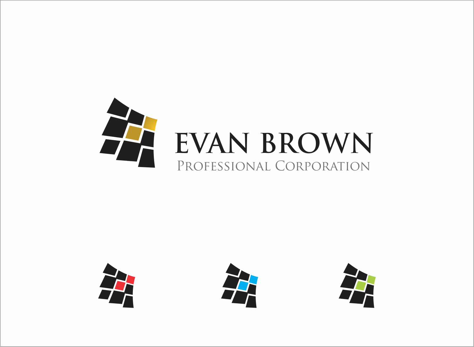 Logo Design by Armada Jamaluddin - Entry No. 86 in the Logo Design Contest Inspiring Logo Design for Evan Brown Professional Corporation.