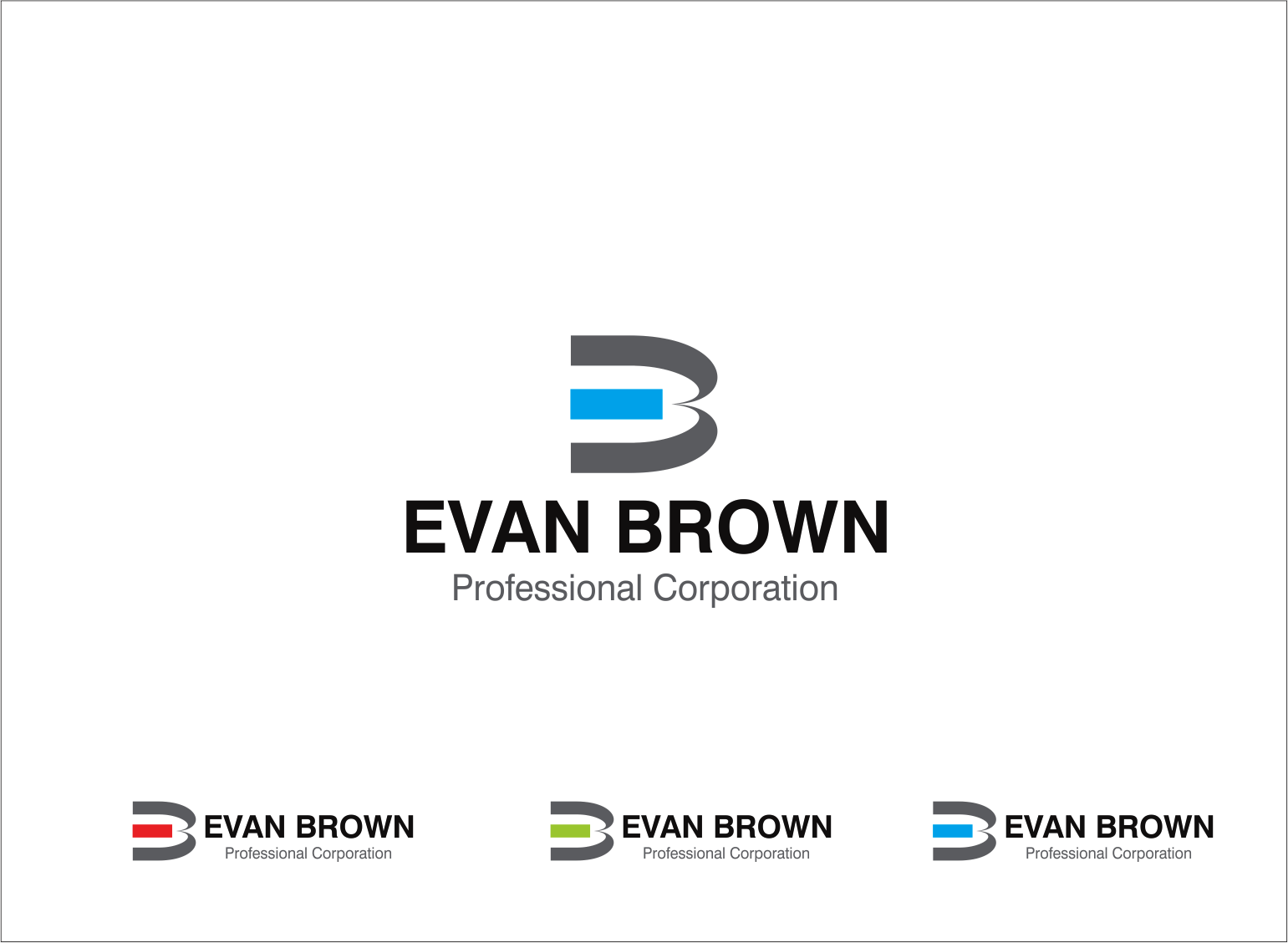 Logo Design by Armada Jamaluddin - Entry No. 87 in the Logo Design Contest Inspiring Logo Design for Evan Brown Professional Corporation.