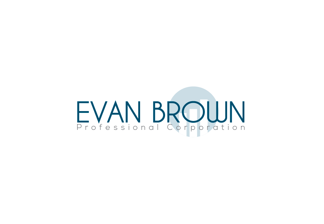 Logo Design by bulb - Entry No. 90 in the Logo Design Contest Inspiring Logo Design for Evan Brown Professional Corporation.