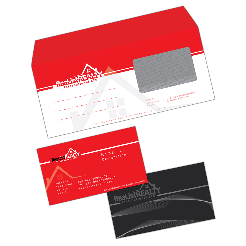 Business Card Design by aesthetic-art - Entry No. 28 in the Business Card Design Contest Realist Realty International - Stationary.