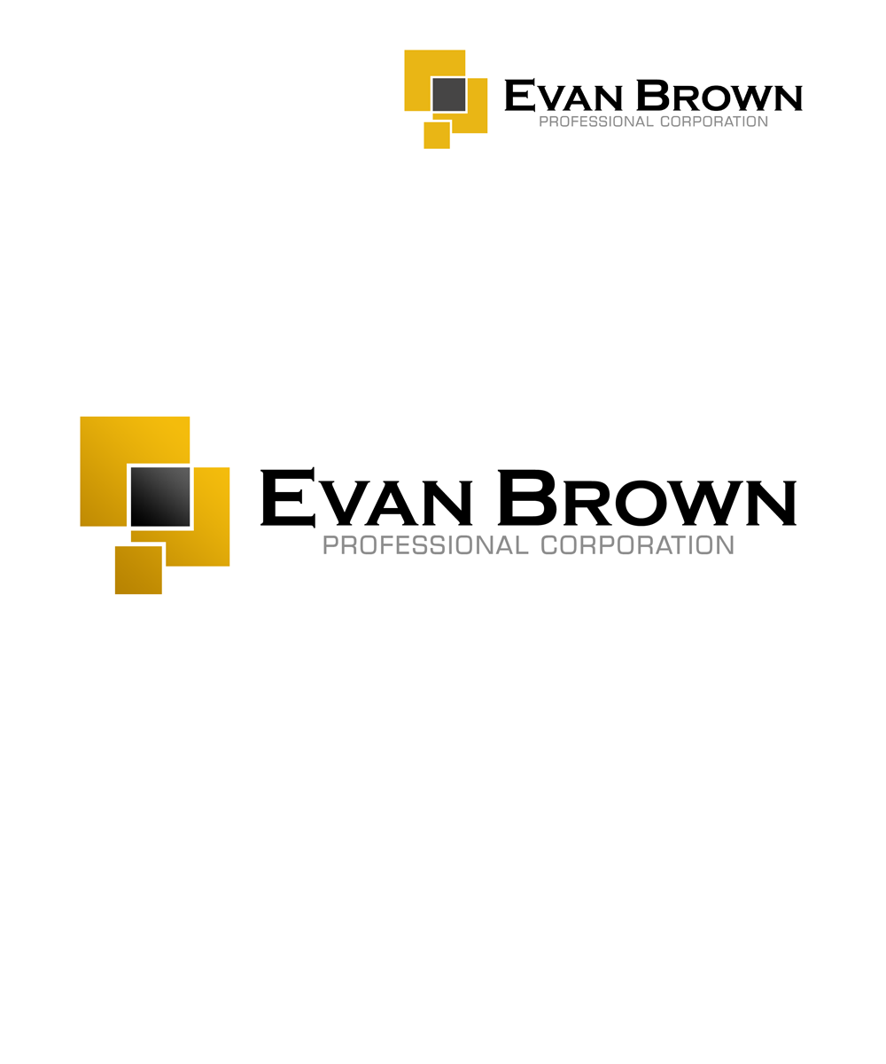 Logo Design by Private User - Entry No. 95 in the Logo Design Contest Inspiring Logo Design for Evan Brown Professional Corporation.