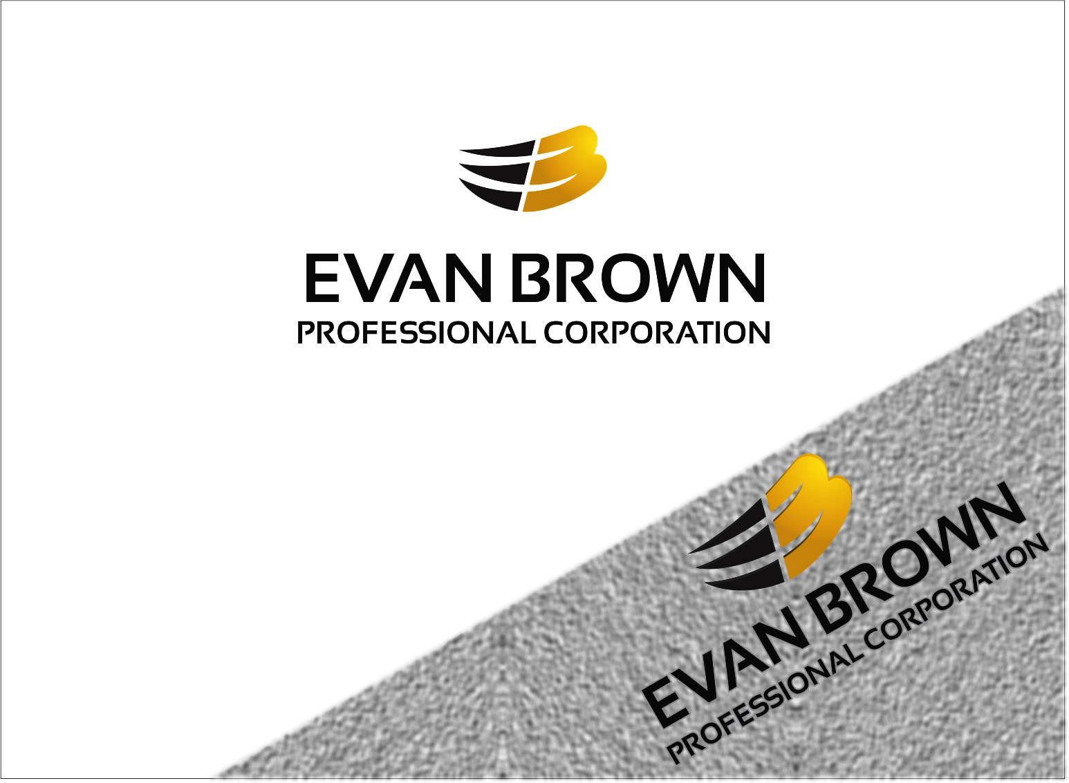 Logo Design by Armada Jamaluddin - Entry No. 99 in the Logo Design Contest Inspiring Logo Design for Evan Brown Professional Corporation.
