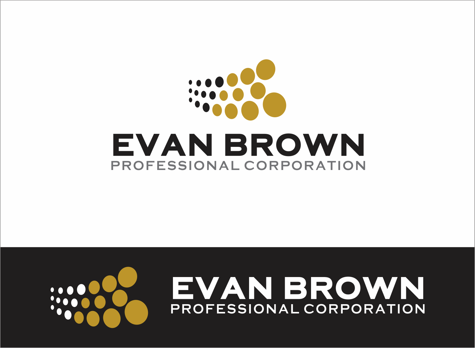 Logo Design by Armada Jamaluddin - Entry No. 100 in the Logo Design Contest Inspiring Logo Design for Evan Brown Professional Corporation.