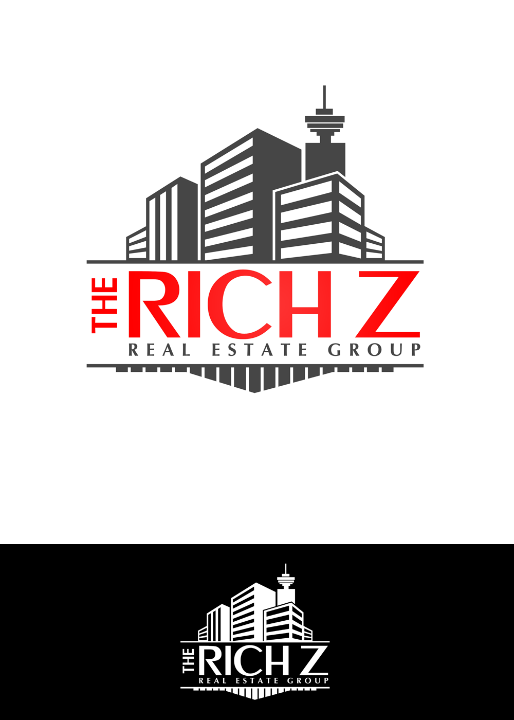 Logo Design by Private User - Entry No. 381 in the Logo Design Contest The Rich Z. Real Estate Group Logo Design.