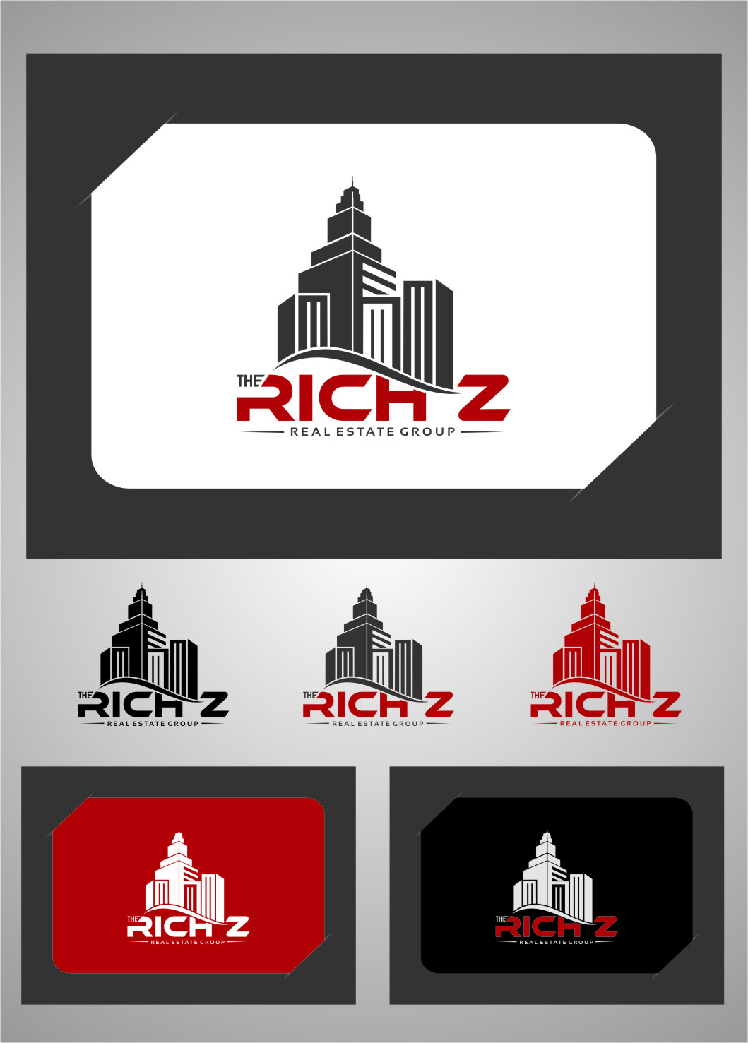 Logo Design by RasYa Muhammad Athaya - Entry No. 382 in the Logo Design Contest The Rich Z. Real Estate Group Logo Design.