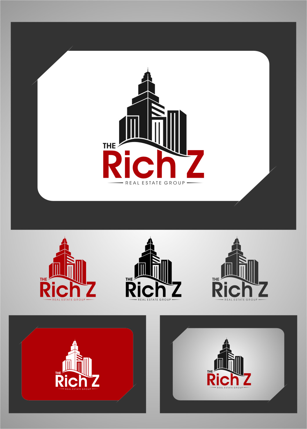 Logo Design by Ngepet_art - Entry No. 383 in the Logo Design Contest The Rich Z. Real Estate Group Logo Design.