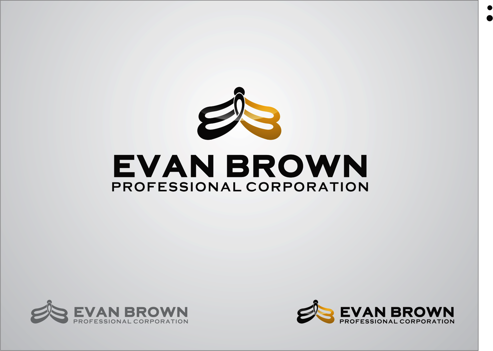 Logo Design by Armada Jamaluddin - Entry No. 101 in the Logo Design Contest Inspiring Logo Design for Evan Brown Professional Corporation.