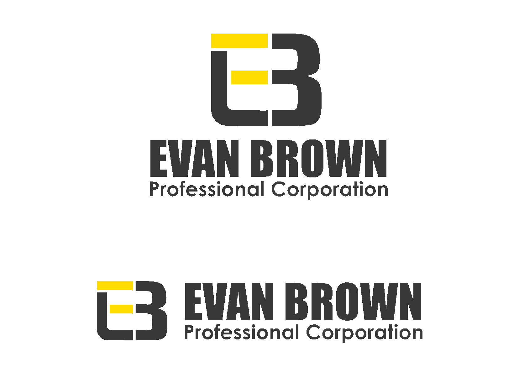 Logo Design by Ismail Adhi Wibowo - Entry No. 102 in the Logo Design Contest Inspiring Logo Design for Evan Brown Professional Corporation.