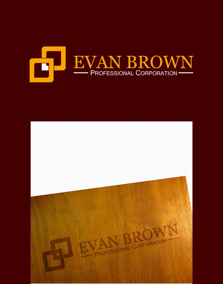 Logo Design by Crispin Jr Vasquez - Entry No. 103 in the Logo Design Contest Inspiring Logo Design for Evan Brown Professional Corporation.