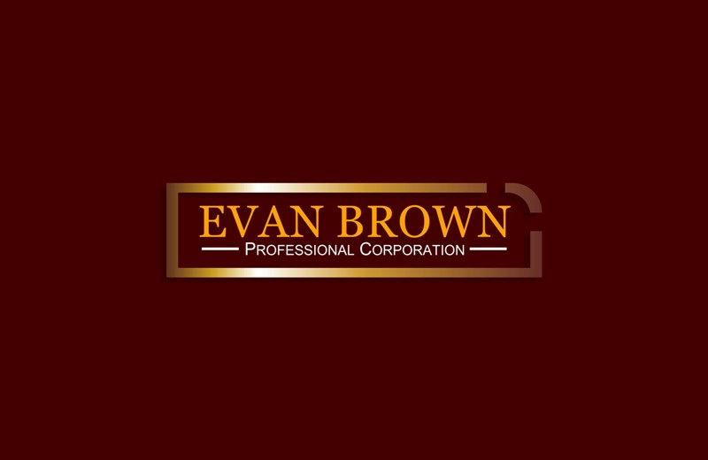 Logo Design by Crispin Jr Vasquez - Entry No. 105 in the Logo Design Contest Inspiring Logo Design for Evan Brown Professional Corporation.