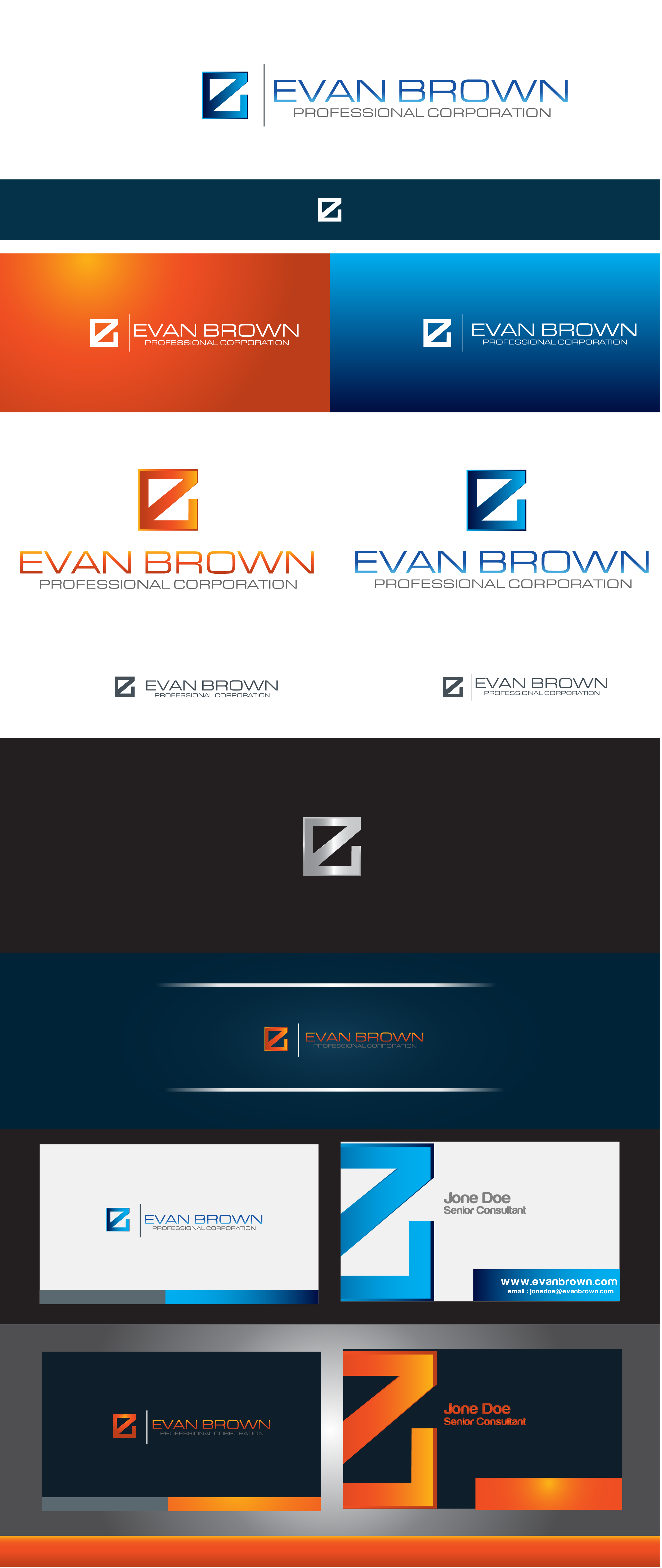 Logo Design by Private User - Entry No. 109 in the Logo Design Contest Inspiring Logo Design for Evan Brown Professional Corporation.