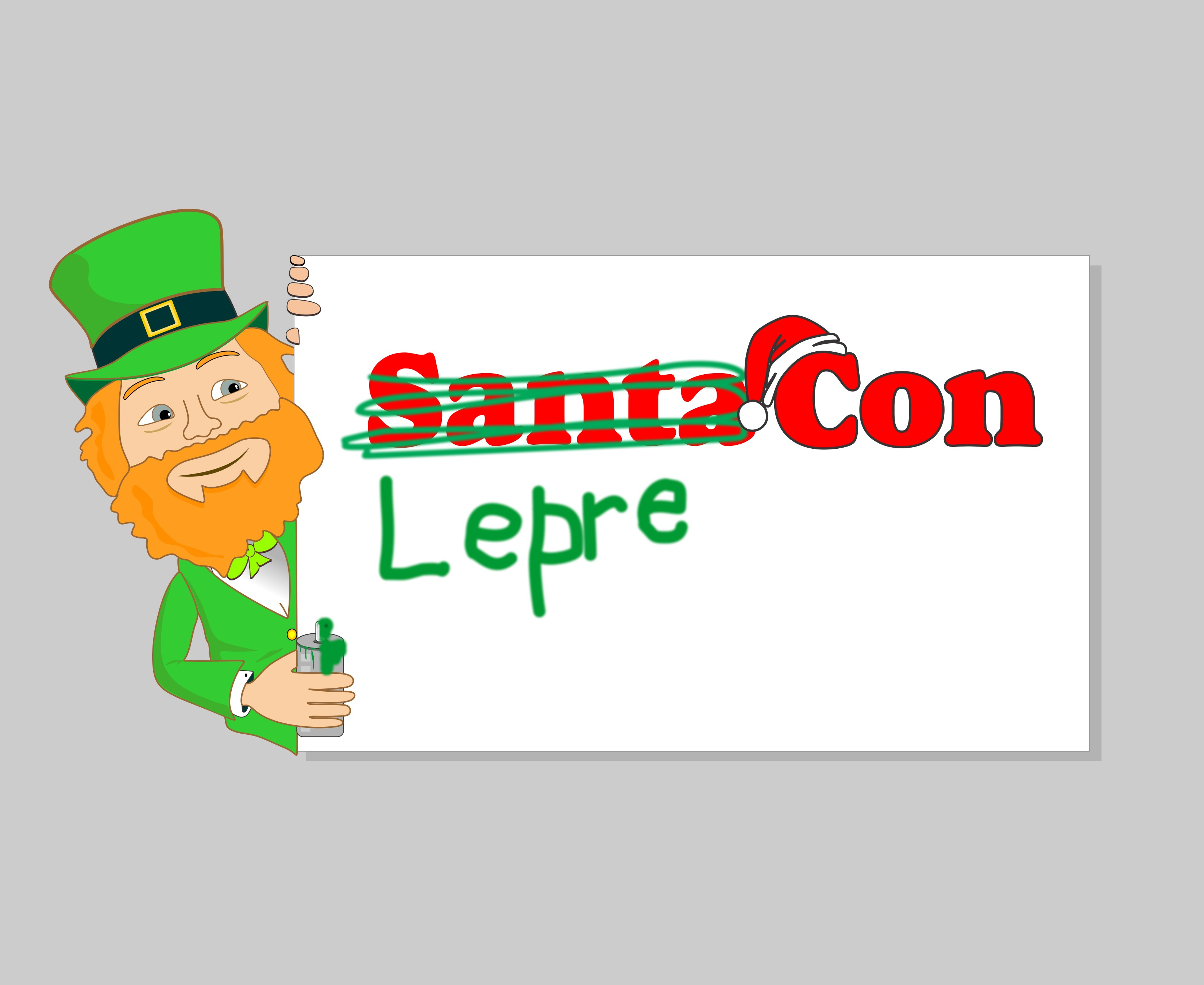Logo Design by Mhon_Rose - Entry No. 49 in the Logo Design Contest FUN Logo Design for *LepreCon* St. Patrick's Event [WILL END EARLY JAN. 26].