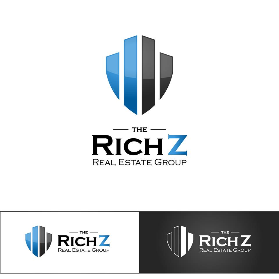 Logo Design by chinie05 - Entry No. 386 in the Logo Design Contest The Rich Z. Real Estate Group Logo Design.