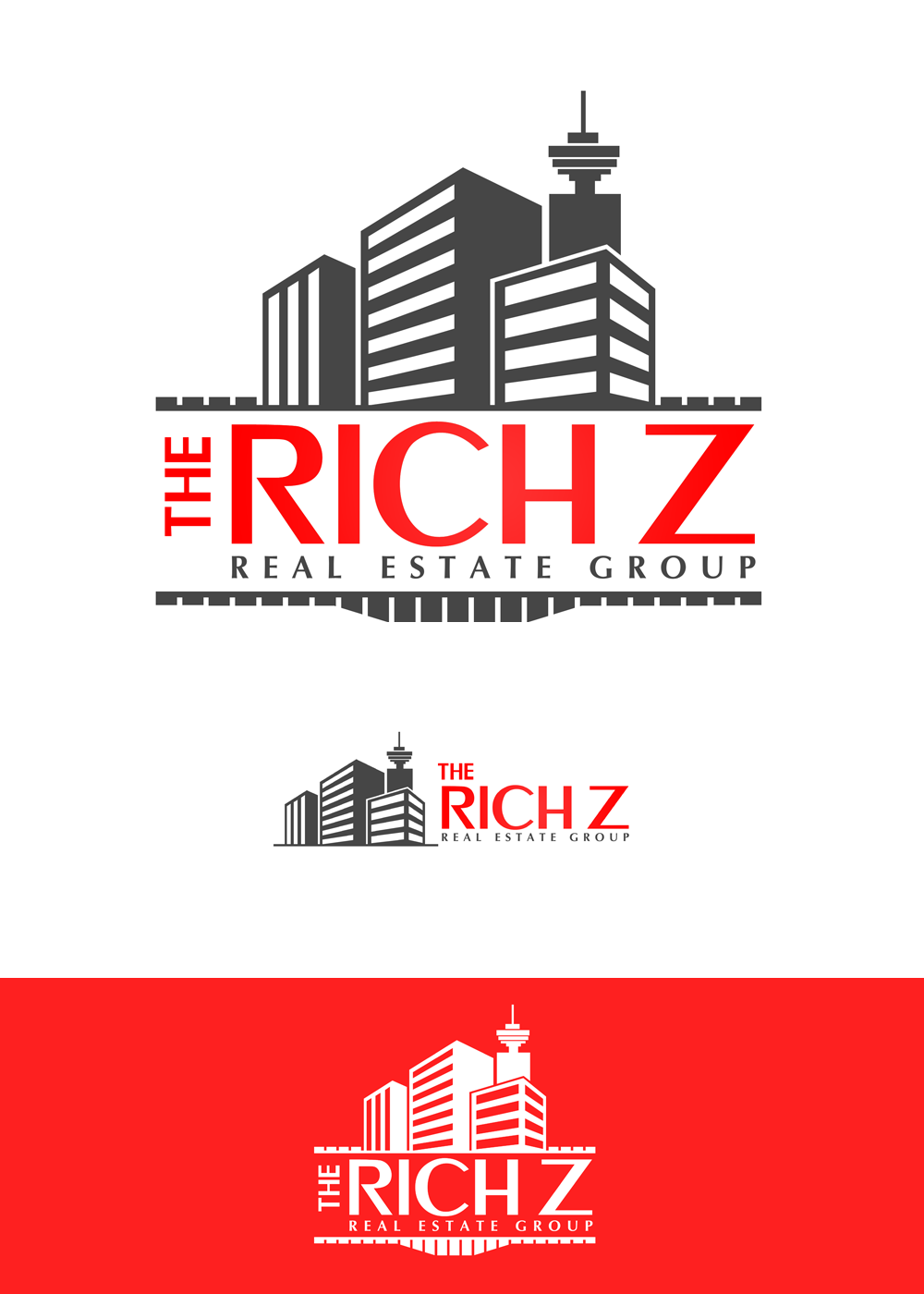Logo Design by Private User - Entry No. 388 in the Logo Design Contest The Rich Z. Real Estate Group Logo Design.