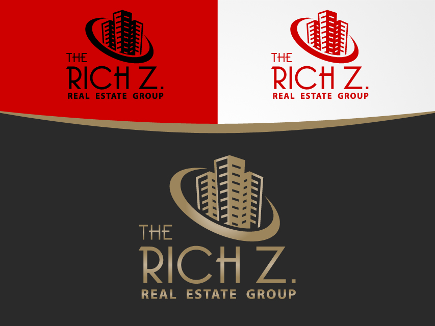 Logo Design by Richard Soriano - Entry No. 389 in the Logo Design Contest The Rich Z. Real Estate Group Logo Design.