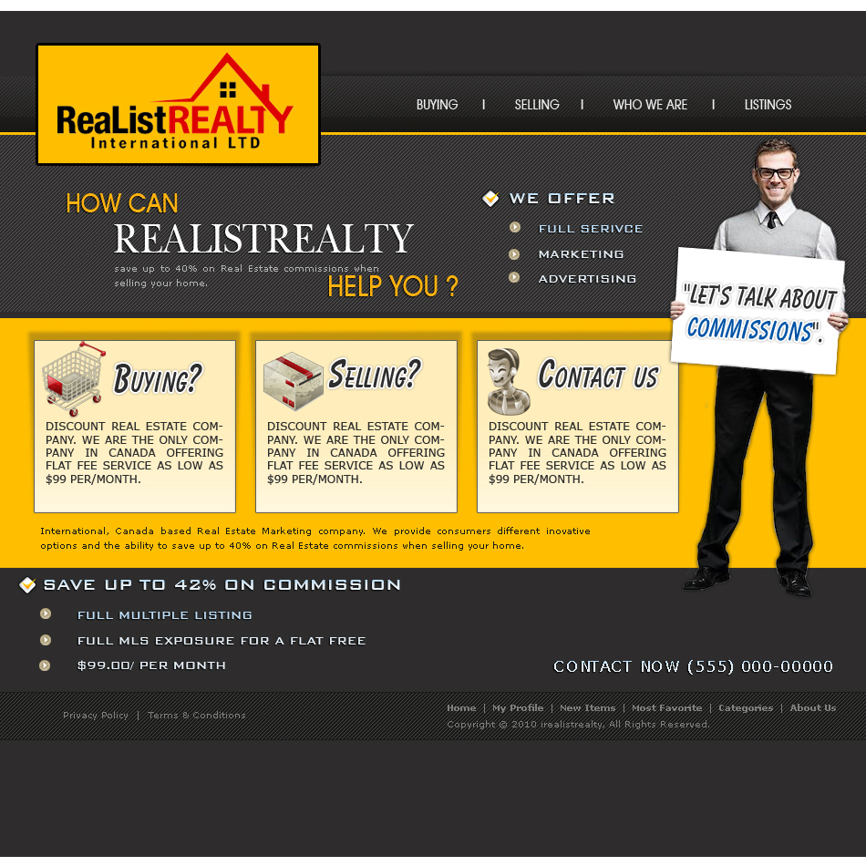 Web Page Design by aesthetic-art - Entry No. 168 in the Web Page Design Contest Realist Realty International Ltd..