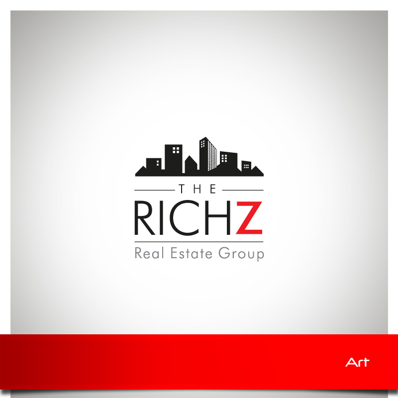 Logo Design by Puspita Wahyuni - Entry No. 395 in the Logo Design Contest The Rich Z. Real Estate Group Logo Design.