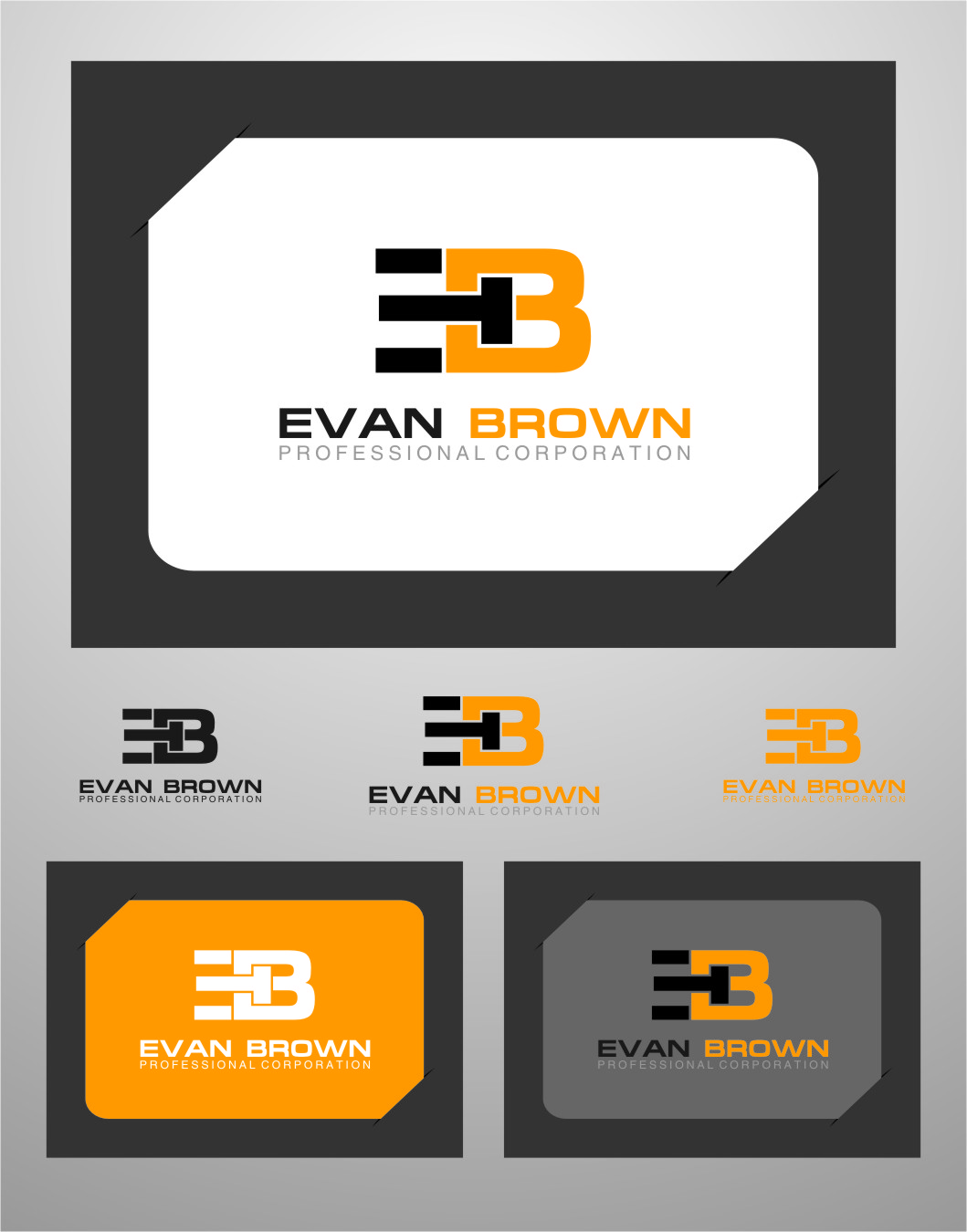 Logo Design by RasYa Muhammad Athaya - Entry No. 121 in the Logo Design Contest Inspiring Logo Design for Evan Brown Professional Corporation.