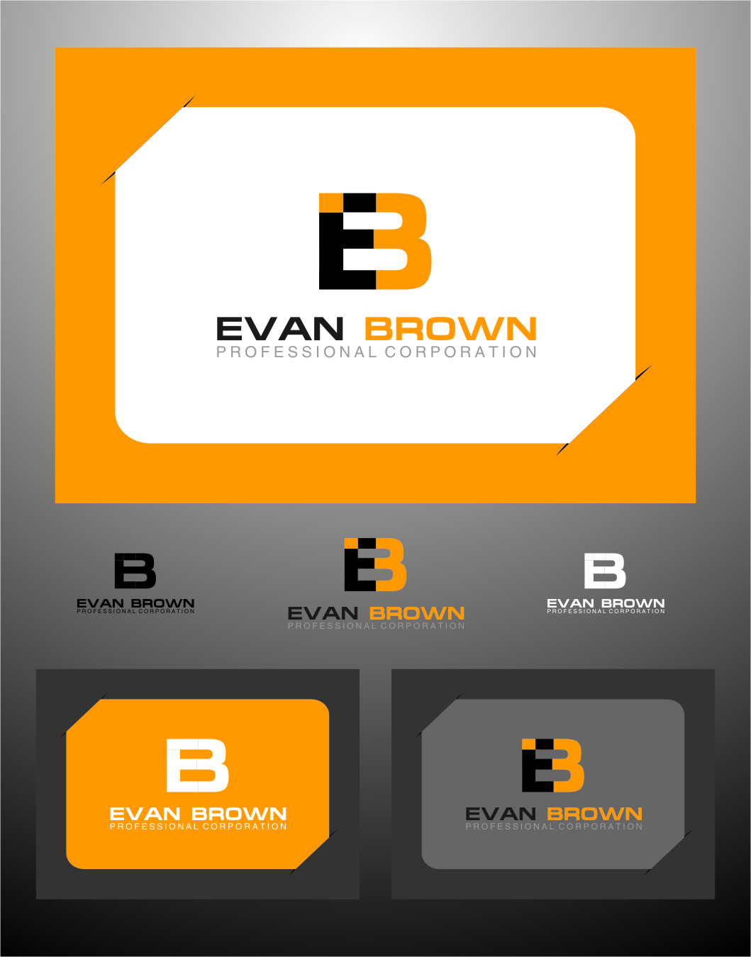 Logo Design by RasYa Muhammad Athaya - Entry No. 122 in the Logo Design Contest Inspiring Logo Design for Evan Brown Professional Corporation.