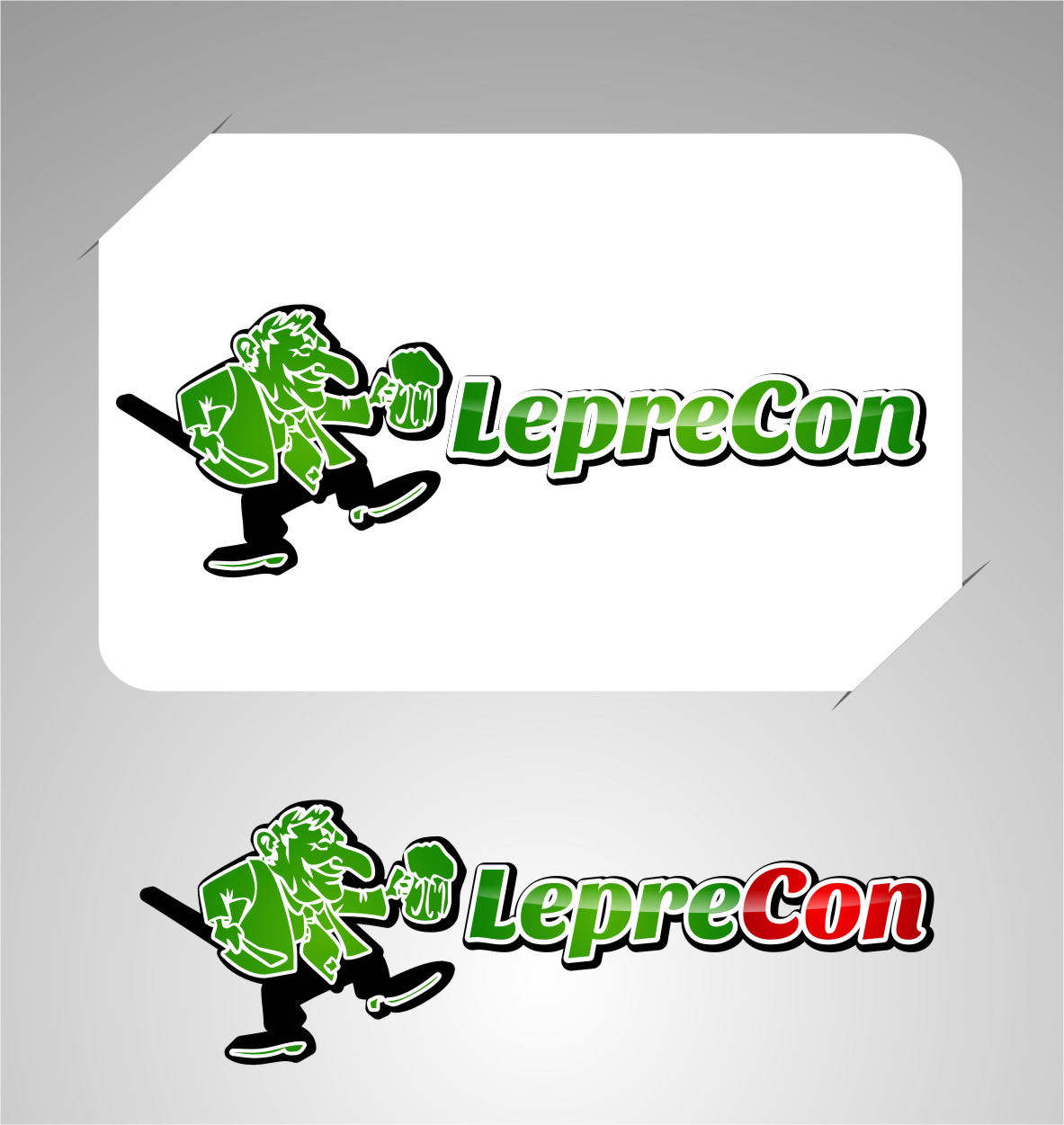 Logo Design by Ngepet_art - Entry No. 57 in the Logo Design Contest FUN Logo Design for *LepreCon* St. Patrick's Event [WILL END EARLY JAN. 26].