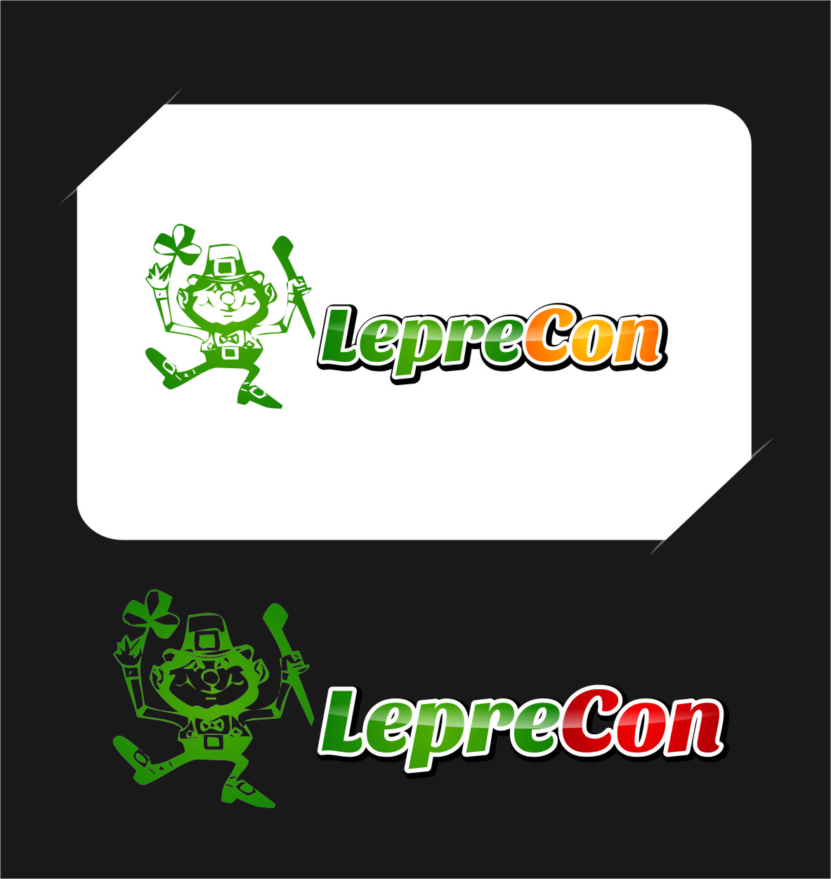 Logo Design by Ngepet_art - Entry No. 58 in the Logo Design Contest FUN Logo Design for *LepreCon* St. Patrick's Event [WILL END EARLY JAN. 26].