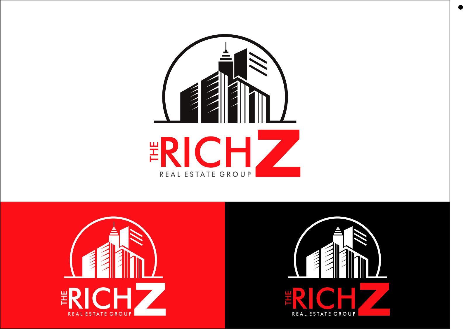 Logo Design by Armada Jamaluddin - Entry No. 398 in the Logo Design Contest The Rich Z. Real Estate Group Logo Design.