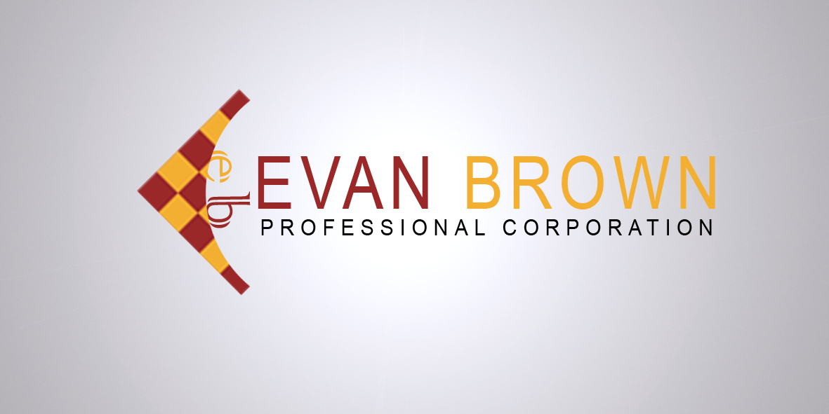 Logo Design by Vineeth K V - Entry No. 127 in the Logo Design Contest Inspiring Logo Design for Evan Brown Professional Corporation.