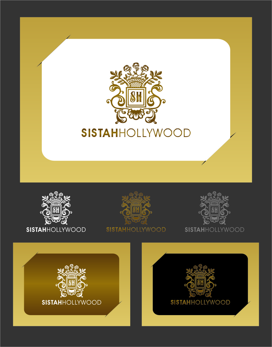 Logo Design by RasYa Muhammad Athaya - Entry No. 54 in the Logo Design Contest New Logo Design for Sistah Hollywood.