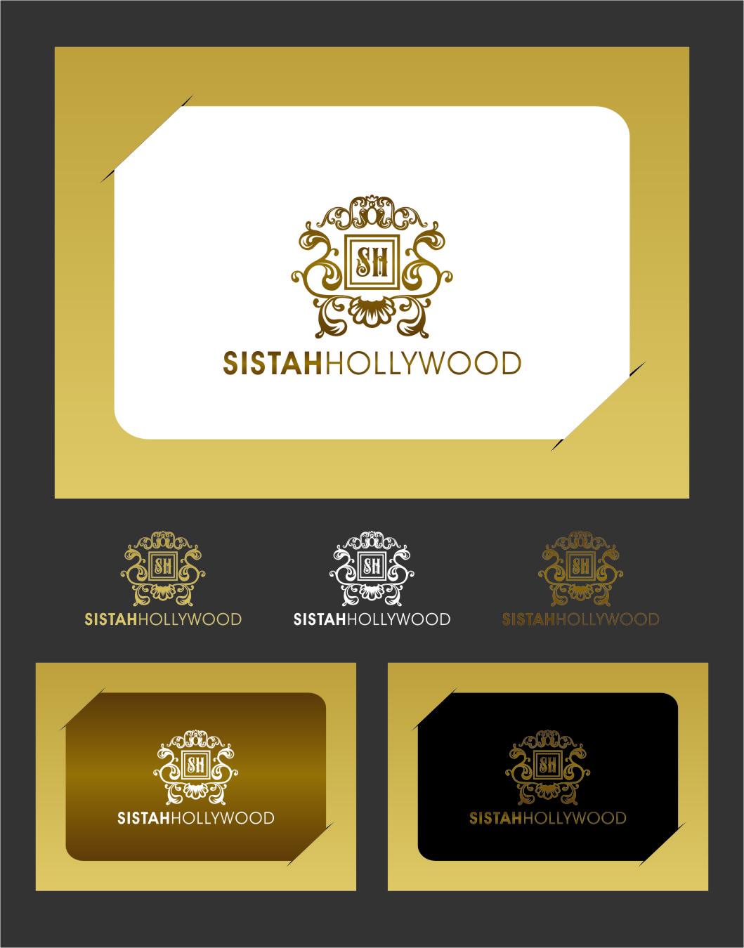 Logo Design by RasYa Muhammad Athaya - Entry No. 55 in the Logo Design Contest New Logo Design for Sistah Hollywood.