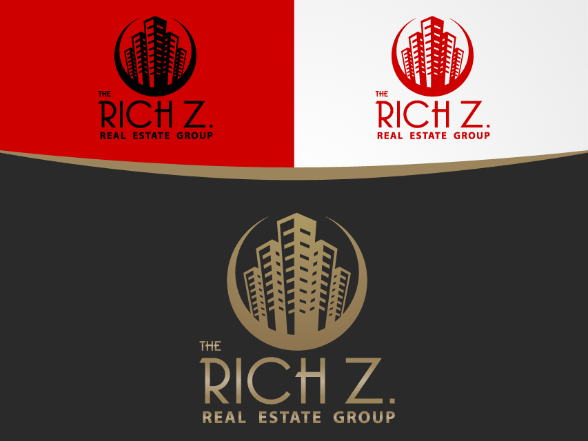 Logo Design by Richard Soriano - Entry No. 401 in the Logo Design Contest The Rich Z. Real Estate Group Logo Design.