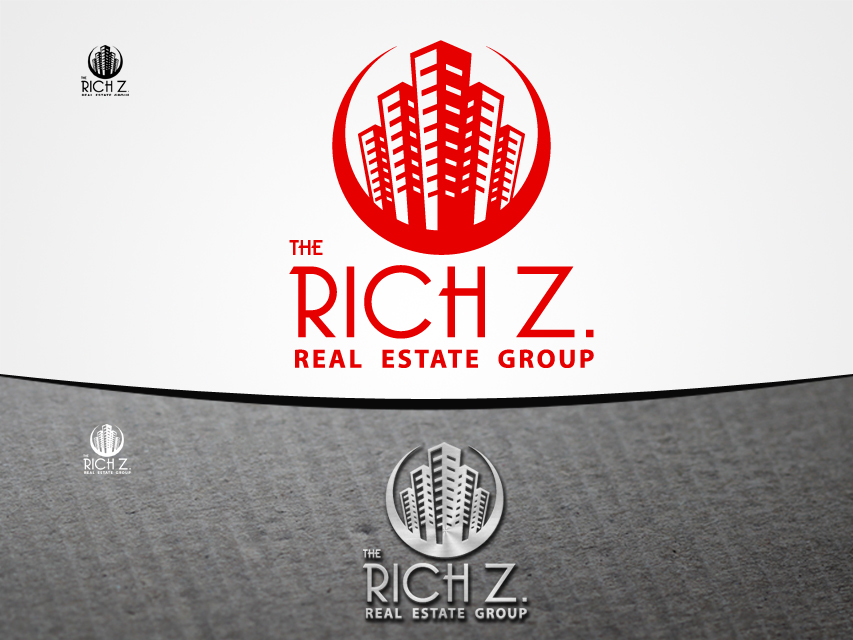 Logo Design by Richard Soriano - Entry No. 402 in the Logo Design Contest The Rich Z. Real Estate Group Logo Design.