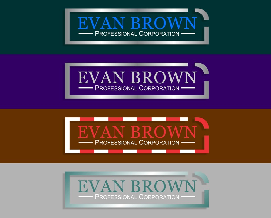 Logo Design by Crispin Jr Vasquez - Entry No. 136 in the Logo Design Contest Inspiring Logo Design for Evan Brown Professional Corporation.