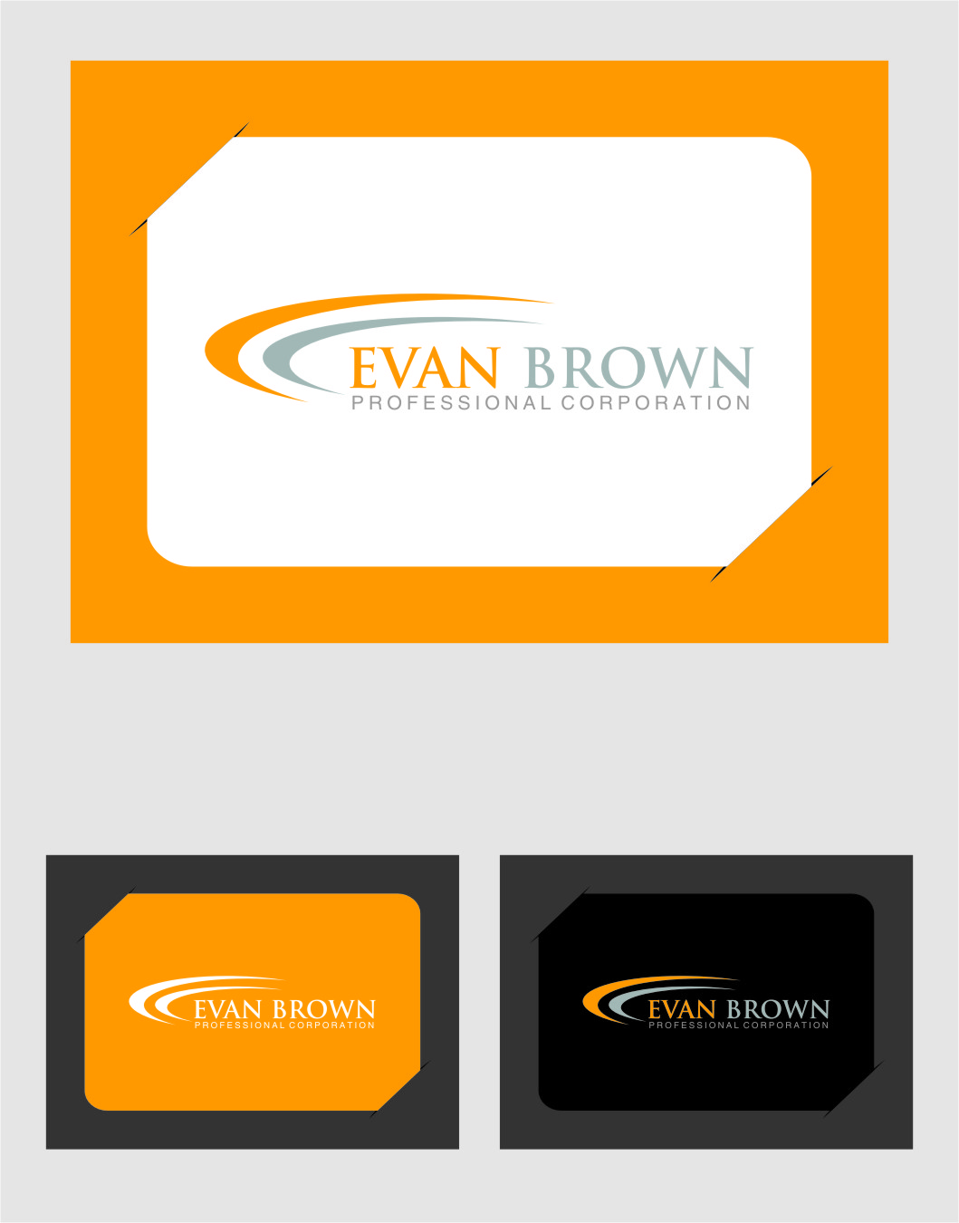 Logo Design by RasYa Muhammad Athaya - Entry No. 139 in the Logo Design Contest Inspiring Logo Design for Evan Brown Professional Corporation.