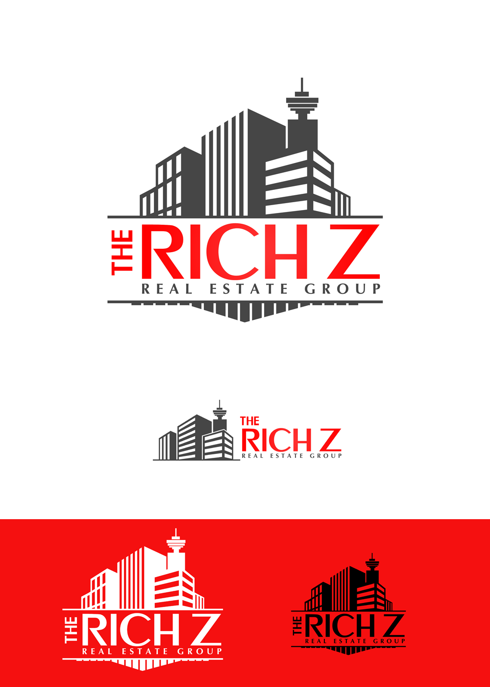 Logo Design by Private User - Entry No. 403 in the Logo Design Contest The Rich Z. Real Estate Group Logo Design.