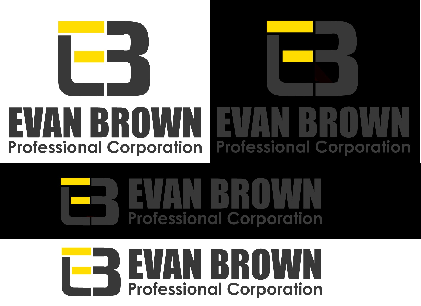 Logo Design by Ismail Adhi Wibowo - Entry No. 148 in the Logo Design Contest Inspiring Logo Design for Evan Brown Professional Corporation.