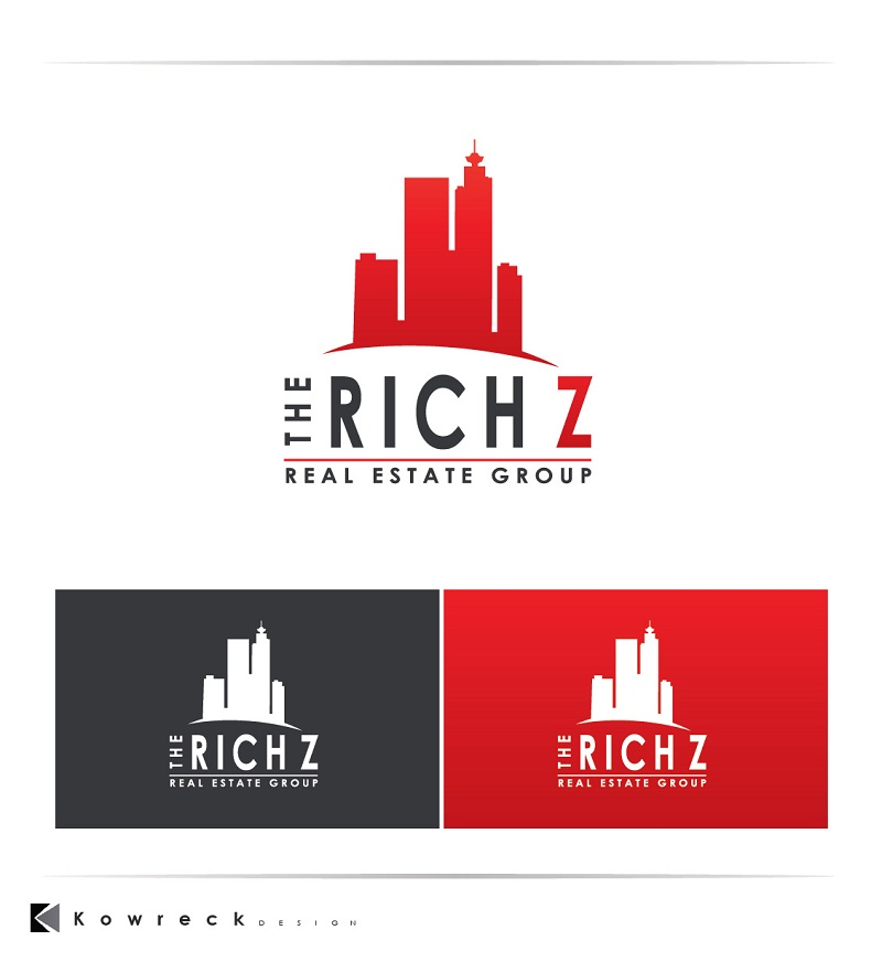 Logo Design by kowreck - Entry No. 405 in the Logo Design Contest The Rich Z. Real Estate Group Logo Design.