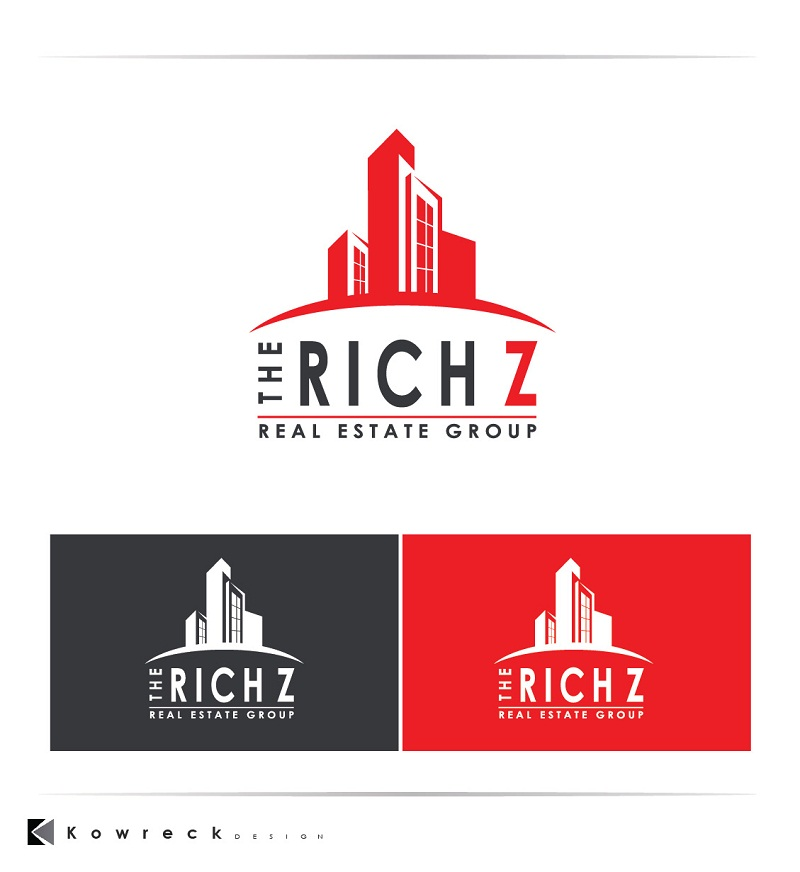 Logo Design by kowreck - Entry No. 406 in the Logo Design Contest The Rich Z. Real Estate Group Logo Design.