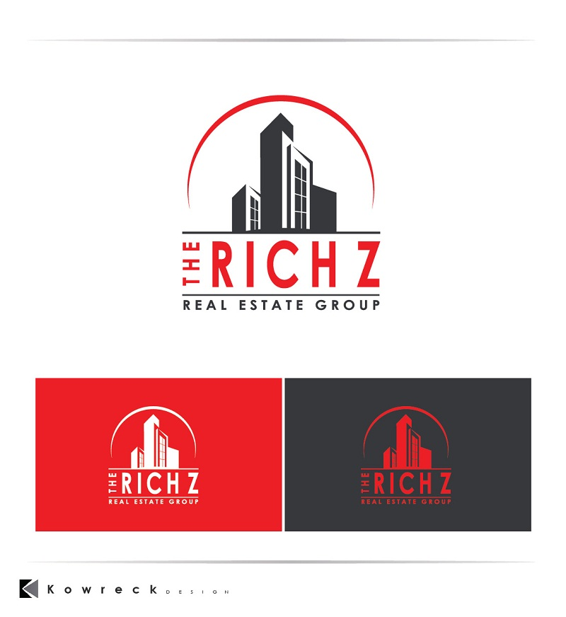 Logo Design by kowreck - Entry No. 408 in the Logo Design Contest The Rich Z. Real Estate Group Logo Design.