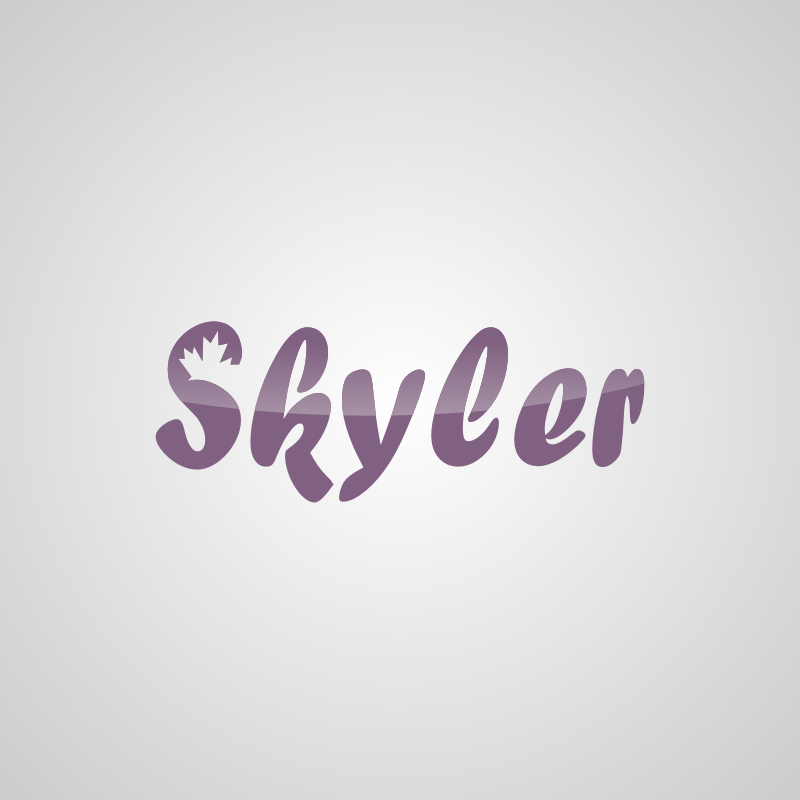 Logo Design by Rudy - Entry No. 9 in the Logo Design Contest Skyler Clothing Logo.